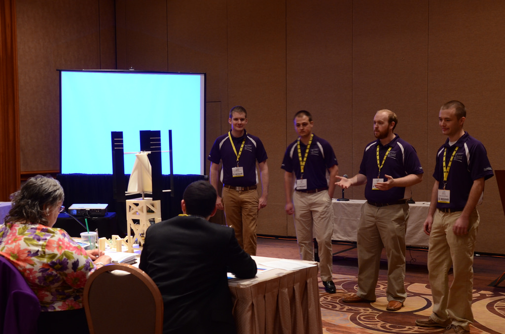 Team presents design to judges